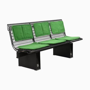 Italian Enamelled Steel Bench by Marco Fantoni for Tecno, 1982