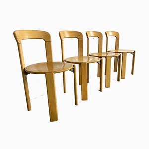 Vintage Dining Chairs by Bruno Rey for Kusch+Co, Set of 4