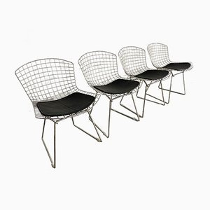 Chrome Dining Chairs by Harry Bertoia for Knoll Inc. / Knoll International, 1980s, Set of 4