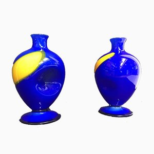 Vintage Murano Vase Sculptures from Salviati, Set of 2