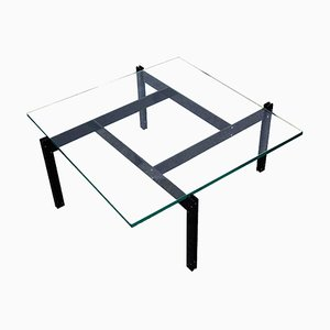 Danish Coffee Table in Anodised Aluminium and Glass, 1970s