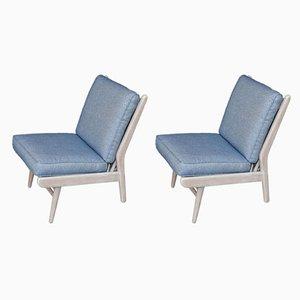 Mid-Century Beach House Moderne Ian Mankin Sessel aus Stoff von Scandart, 1960er, 2er Set