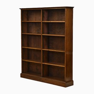 Oak Open Adjustable Shelves Bookcase, 1930s