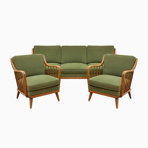Mid-Century Daybed & Chairs by Walter Knoll for Knoll Antimott, Set of 3