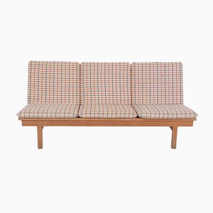 3-Seater 2281 Oak & Wool Sofa by Børge Mogensen for Fredericia, 1971