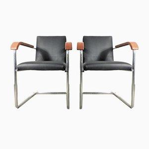 Freischwinger Sessel von Embru, 1940er, 2er Set