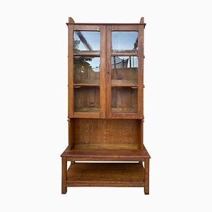 Antique Solid Walnut Display Cabinet, 1860s