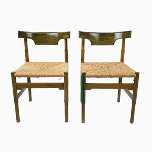 Side Chairs in the Style of Vico Magistretti, 1960s, Set of 2