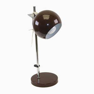 Brown Sphere Magnet Desk Lamp from Hamalux, 1960s