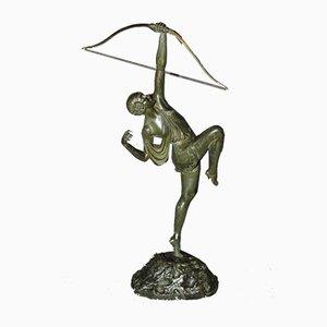 Diane Huntress aus Bronze von Pierre Le Faguays, 1930er