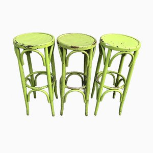 Bistro Stools in the Style of Thonet, 1980s, Set of 3