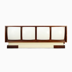Space Age Rosewood & Fiberglass Sideboard in the Style of Antoine Philippon & Jacqueline Lecoq, 1960s