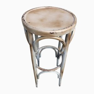 Beige and Gold Bistro Stool in the Style of Thonet, 1980s