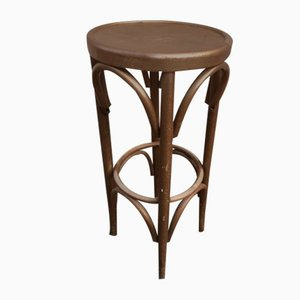 Gold Bistro Stool in the Style of Thonet, 1980s