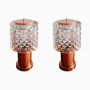 Lampes de Chevet Vintage de Kamenický Šenov, Tchécoslovaquie, 1960s, Set de 2