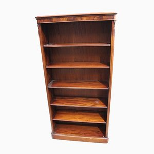 Antique Solid Mahogany Bookshelves with 5 Adjustable Shelves, 1900s