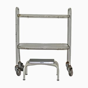 Hospital Trolley with Small Stool