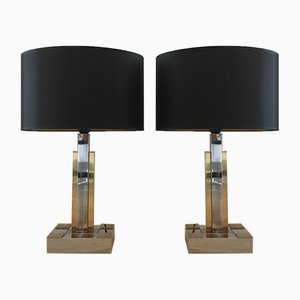 Italian Hollywood Regency Table Lamps, 1980s, Set of 2