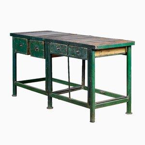 Iron & Oak Work Table, 1950s