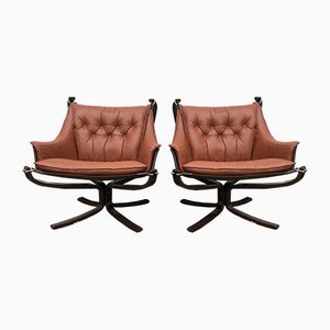 Falcon Lounge Chairs by Sigurd Ressell for Vatne Møbler, 1980s, Set of 2