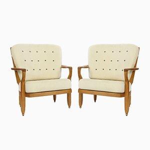 Romeo & Juliet Chairs by Guillerme et Chambron for Votre Maison, 1960s, Set of 2