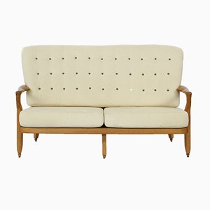 Juliet Sofa in Oak by Guillerme et Chambron for Votre Maison, 1960s