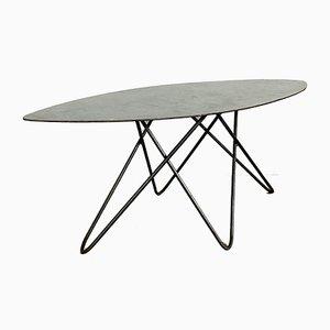 Small German Metal Postmodern Side Table, 1980s