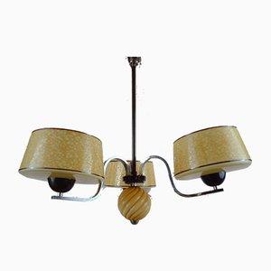 Vintage Art Deco 3-Armed Ceiling Lamp