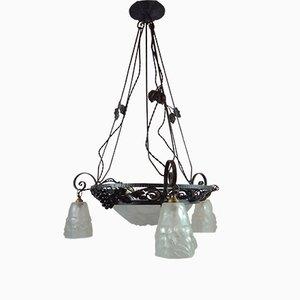 Vintage Ceiling Lamp by David Guéron for Verrerie D'Art Degué