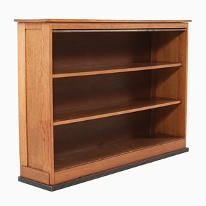 Oak Art Deco Hague School Open Bookcase by Jan Brunott, 1920s