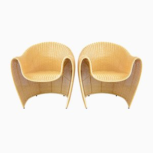 King Tubby Club Chairs by Miki Astori for Driade, 1990s, Set of 2
