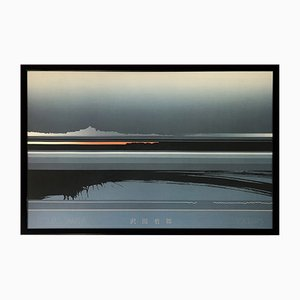 Japanese Postmodern Framed Art Print Oblique Black from the series Serigraphs by Tetsuro Sawada, 1980s