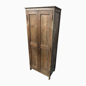 Small Antique Rustic Fir Wardrobe