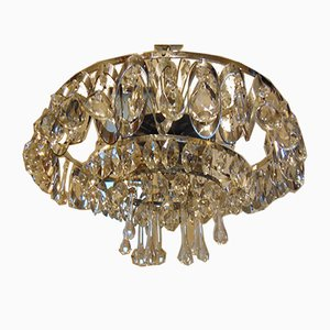 Nickel-Plated Brass & Murano Chandelier