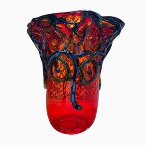 Vintage Kristall Murano Vase von Sergio Costantini, 1980er