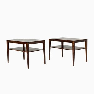 Rosewood Night Stands by Severin Hansen for Haslev Møbelsnedkeri, 1950s, Set of 2