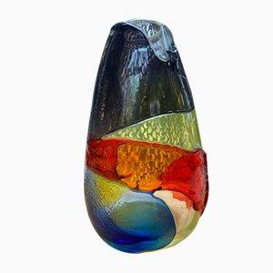 Mehrfarbige Vintage Vase von Salviati, 1980er