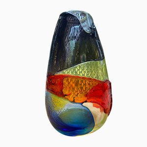 Vintage Multi-Colored Vase by Salviati, 1980s