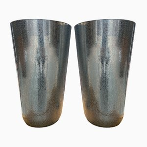 Vintage Silver Vases by Sergio Costantini, 1980s, Set of 2