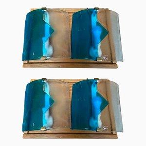 Lampade da tavolo vintage di Mazzega, set di 2