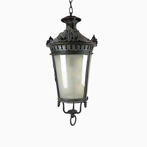 Antique Round Galvanized Metal Lantern