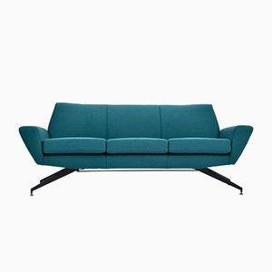 Canapé Moderne Mid-Century avec Socle en Métal par Rossi di Albizzate pour Lenzi, 1950s