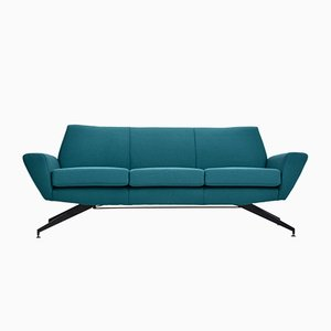 Mid-Century Modern Sofa with Metal Base by Rossi di Albizzate for Lenzi, 1950s