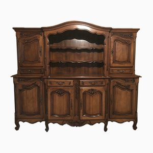 Louis XV Provencal Walnut 2-Part Buffet, 1960s