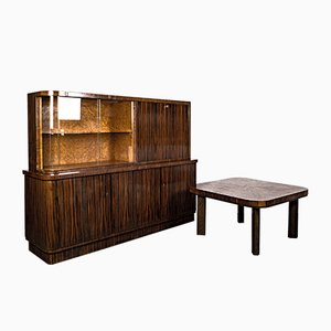 Art Deco Writing Room Set in the Style of Bruno Paul, 1920s, Set of 2