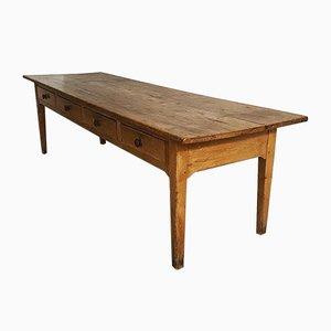 Large Antique Pine Farmhouse Table