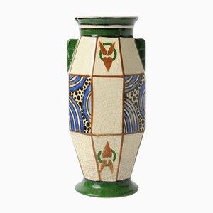 Belgische Art Deco Vase von August Mouzin & Cie, 1920er