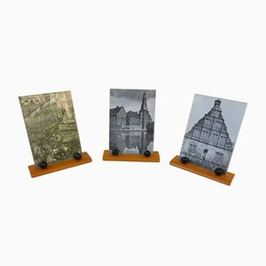 Vintage Art Deco English Picture Frames, Set of 3