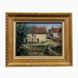 Antique Red Roofs Painting by Muizon