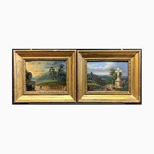 Antique Paintings by Charles Grant Beauregard, Set of 2